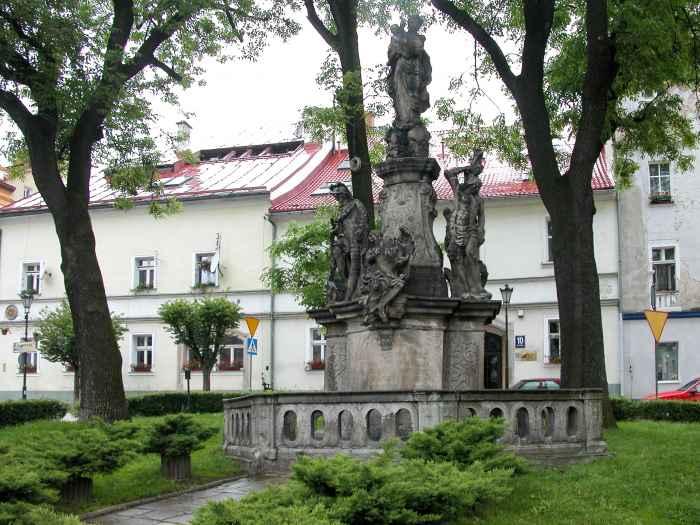 Mariensäule auf dem Markt von Bad Reinerz (Duszniki Zdrój)
