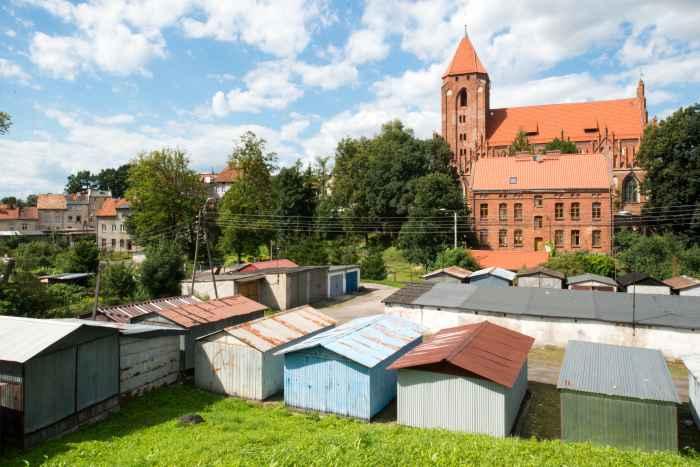 Foto von der Pfarrkirche St. Johann in Wormditt (Orneta)