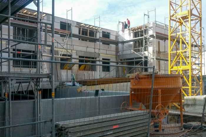 Baustelle in der Innenstadt von Kiel