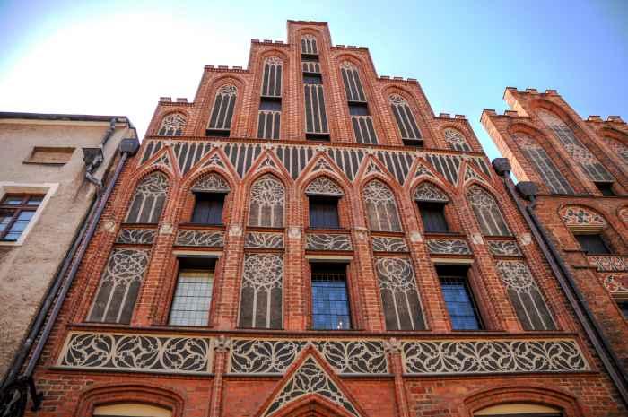 Fassade des Geburtshauses von Nikolaus Kopernikus in Thorn (Toruń)
