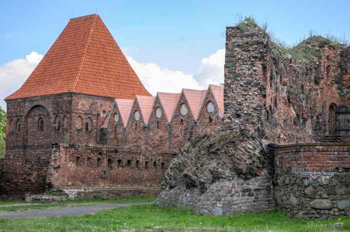 Ruine der Ordensburg in Thorn in Polen
