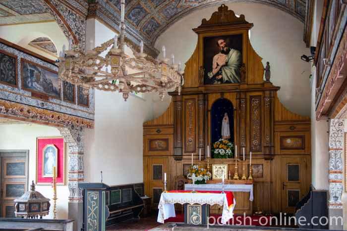 Altar der Marienkirche in Eckersberg (Okartowo)