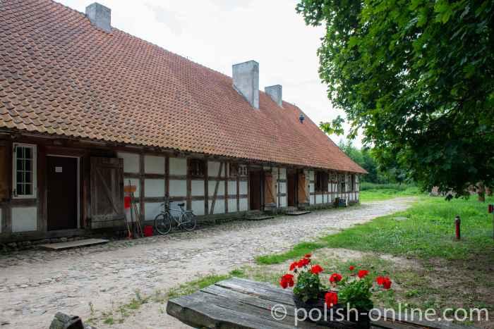 Gasthaus mit Fachwerk im Freilichtmuseum Hohenstein