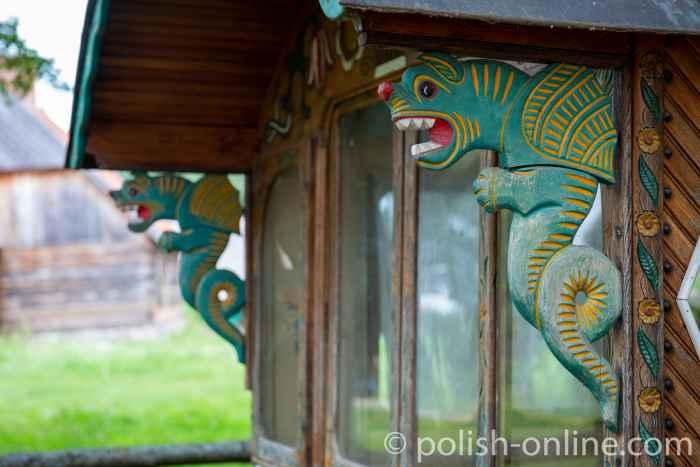 Fragment eines Zigeunerwagens im Freilichtmuseum Hohenstein