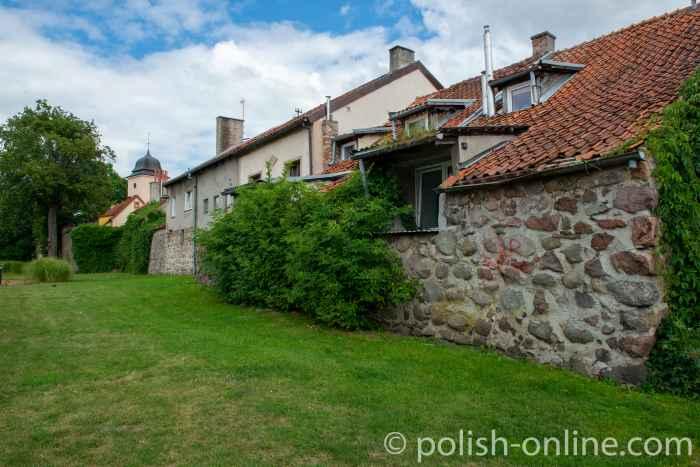 Reste der Stadtmauer in Hohenstein (Olsztynek)