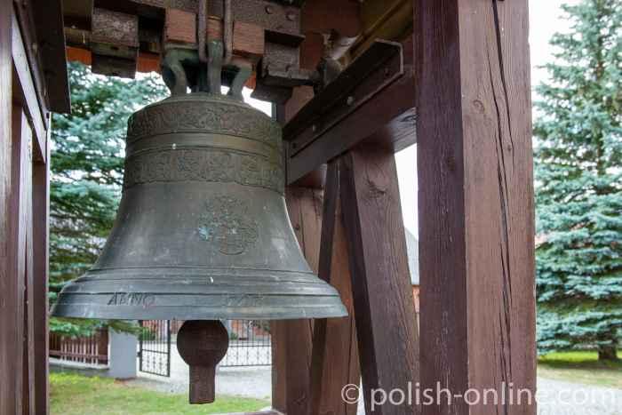 Glocke der Christkönigskirche in Rosengarten in Masuren