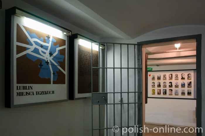 Ausstellungsraum im Museum des Martyriums UNTER DER UHR