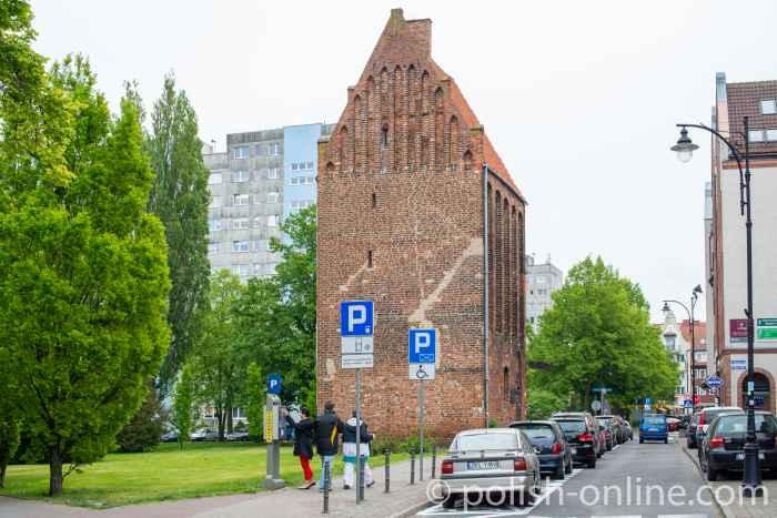 Mittelalterlicher Pulverturm in der Kolberger Innenstadt