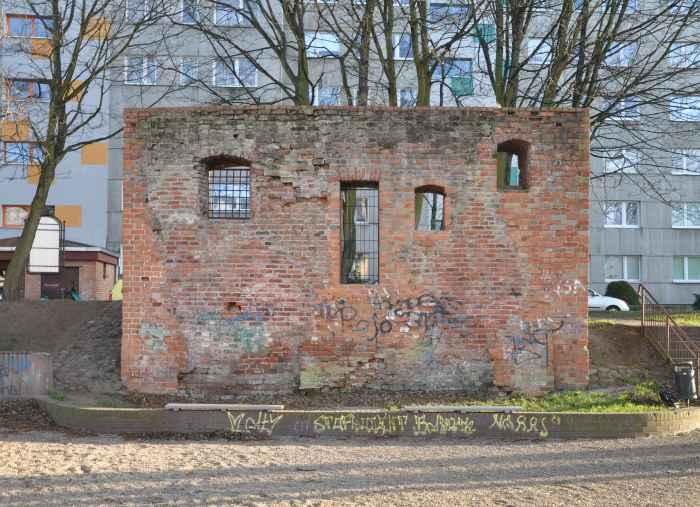 Ruinen des mittelalterlichen Gefängnisturms in Kolberg