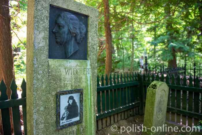 Grabsteine von Meta Wiechert und ihrem Sohn Ernst-Edgar