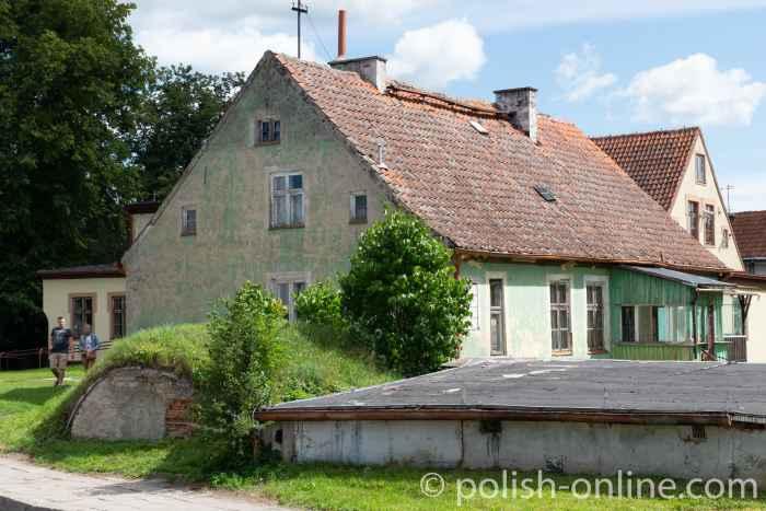 Altes Haus mit Eiskeller in Angerburg (Węgorzewo) in Masuren