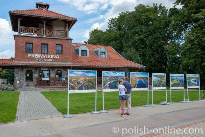 Verwaltungsgebäude der Marina in Angerburg (Węgorzewo) in Masuren
