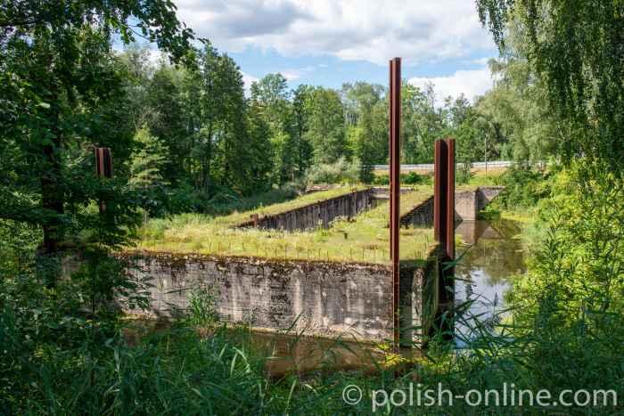 Unterschleuse am Masurischen Kanal bei Fürstenau (Leśniewo)