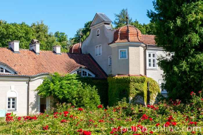 Linker Seitenflügel des Schlosses in Gallingen (Galiny) in Masuren