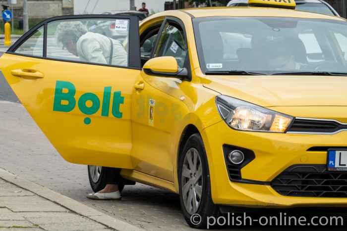 Taxi des Online-Vermittlungsdienste Bolt in Polen