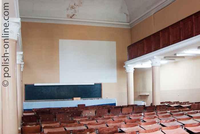 Zum Hörsaal umfunktionierte Synagoge in der einstigen Jeschiwa Chachmej in Lublin