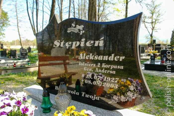 Grabstein eines Soldaten der Anders-Armee