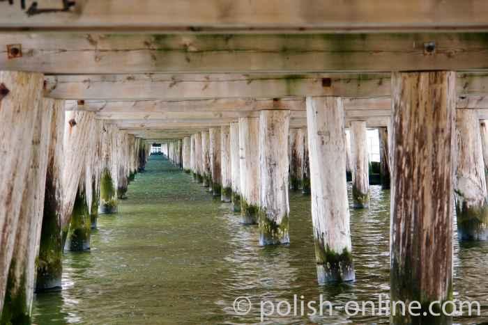 Stützpfeiler Seebrücke Sopot (Zoppot)