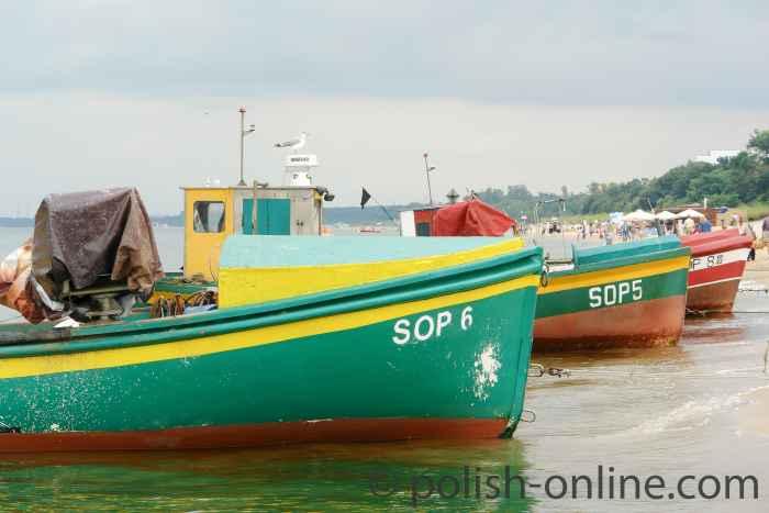 Fischerboote in Sopot (Zoppot)