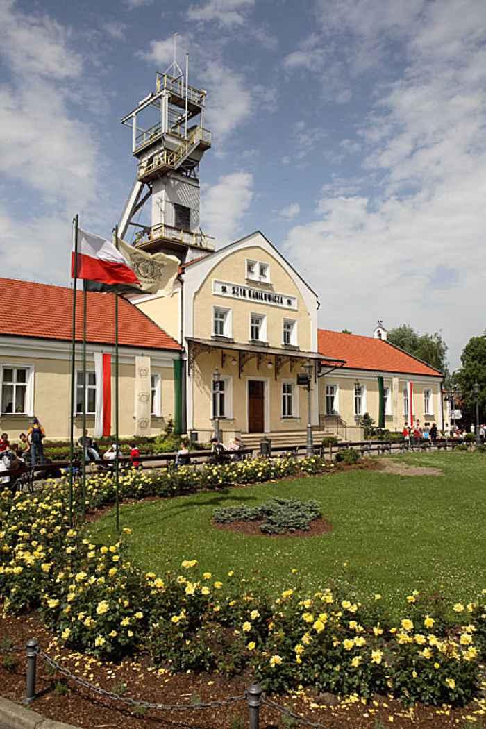 Gebäude des Schachtes Danilowicz in Wieliczka in Polen