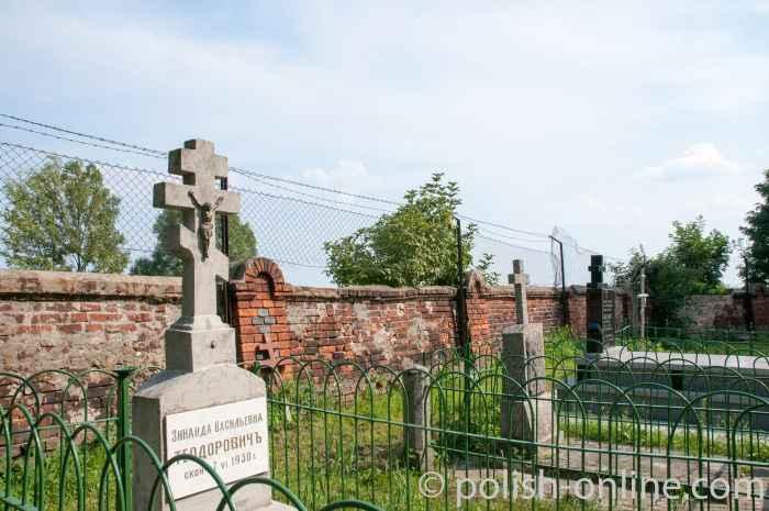 Grabsteine russisch-orthodoxer Friedhof Włodawa