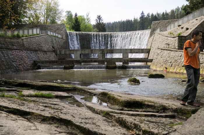 Kleiner Staudamm südlich von Wisła