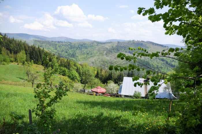 Berghütte mit Restaurant in den schlesischen Beskiden