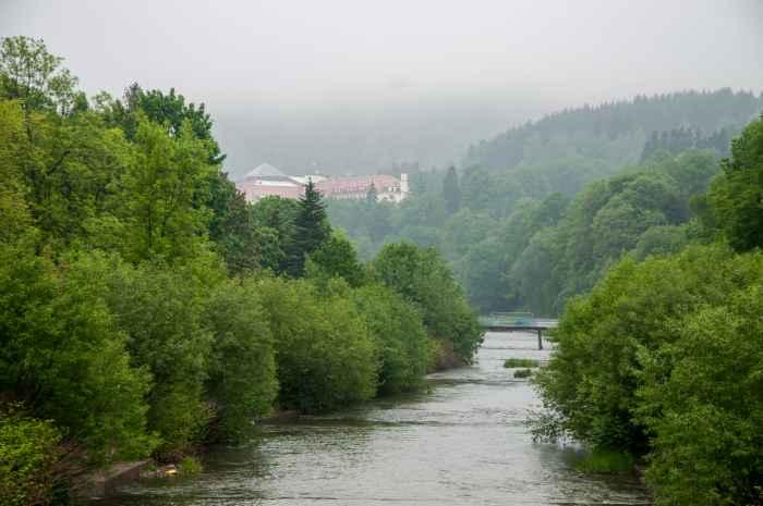 Der Fluss Weichsel in Wisła