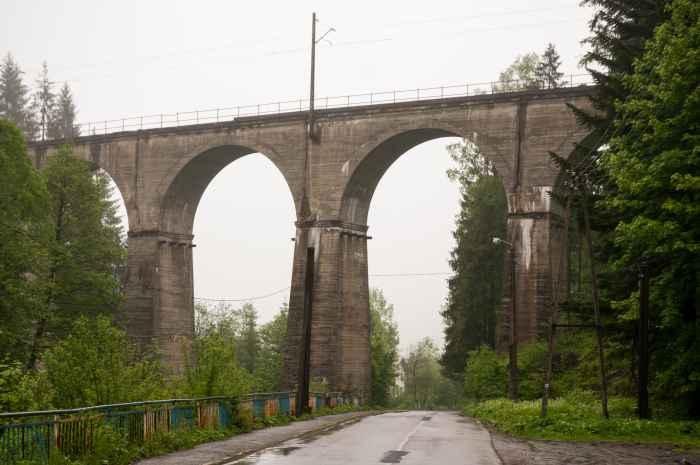 Eisenbahnbrücke in Wisła in Schlesien