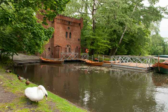 Pumpwerk im Schlosspark Wilanów in Warschau
