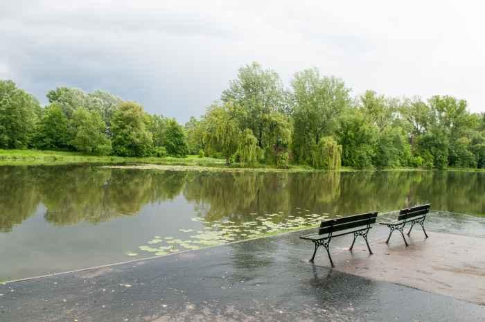 See im Schlosspark Wilanów in Warschau