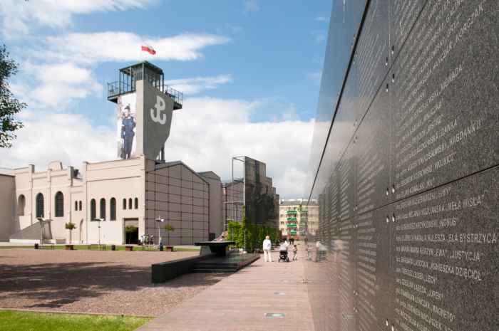 Mauer der Erinnerung Museum des Warschauer Aufstandes