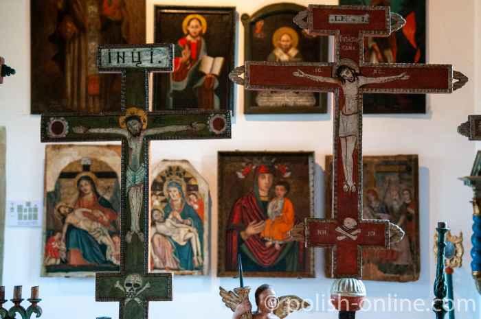 Orthodoxes Kreuz im Museum in Sanok