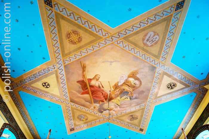 Deckenmalerei griechisch-katholischen Kirche in Ustrzyki Dolne
