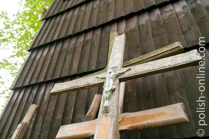 Christus am Kreuz in griechisch-katholischen Kirche Równia