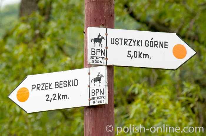 Wegweiser für Reiter in den Bieszczady
