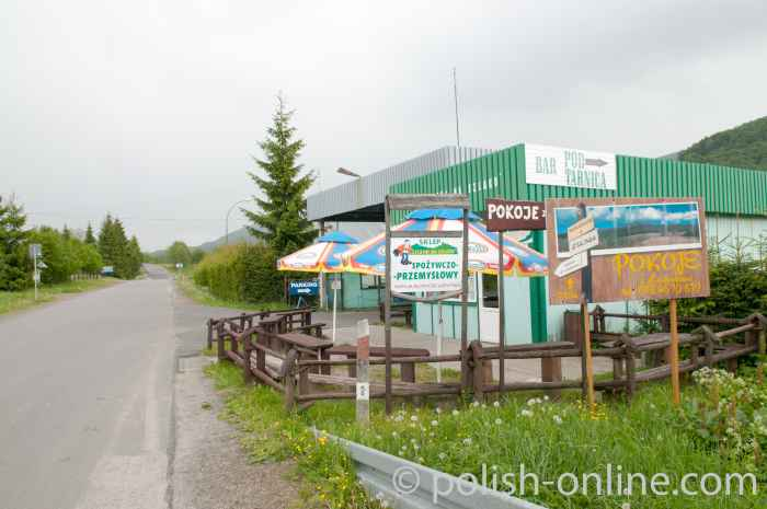 Bar in Wołosate in den Bieszczady Polen