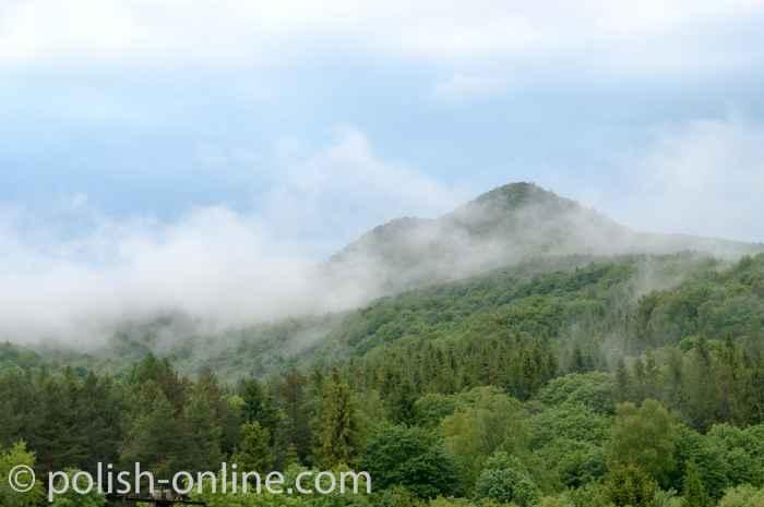 Bieszczady - Blick auf Berge