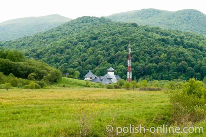 Modernes Gebäude des Grenzschutzes in Ustrzyki Górne