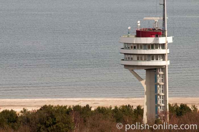 Turm des Hafenamtes Swinemünde auf Wollin
