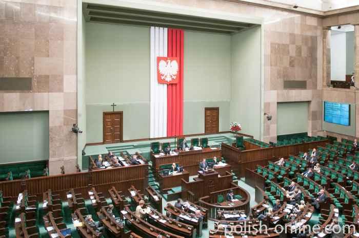 Debatte im polnischen Parlament (Sejm)