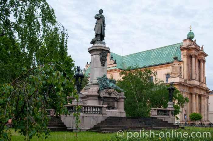 Mickiewicz-Denkmal in Warschau