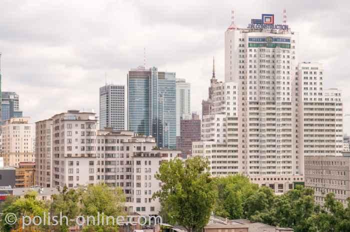 Hochhäuser in der Warschauer Innenstadt