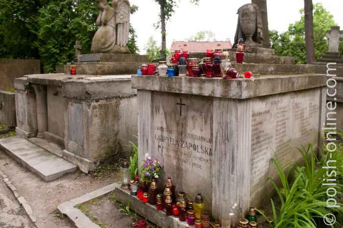 Grab von G. Zapolska in Lemberg