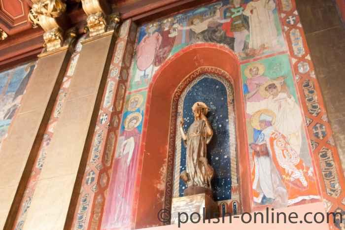 Fresken in der armenischen Kathedrale in Lemberg