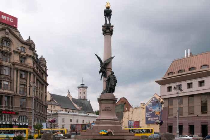 Adam-Mickiewicz-Platz in Lemberg