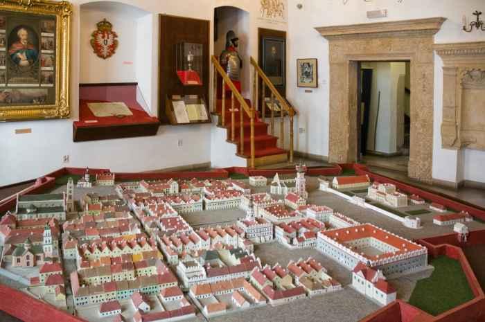 Modell der historischen Altstadt von Zamość