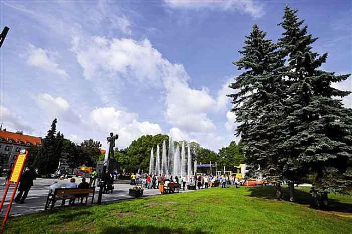 Springbrunnen in Zabrze
