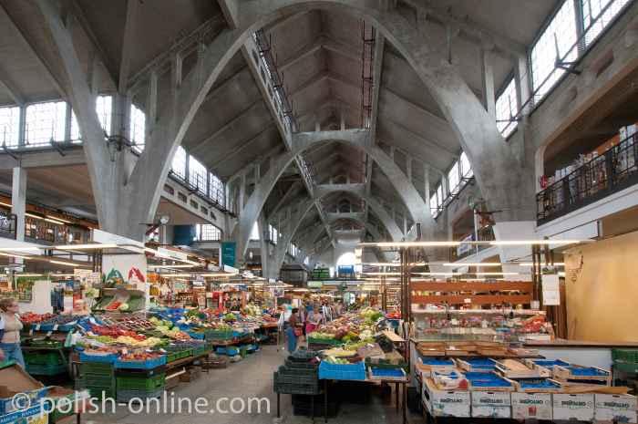 Innere Markthalle in Breslau (Wrocław)