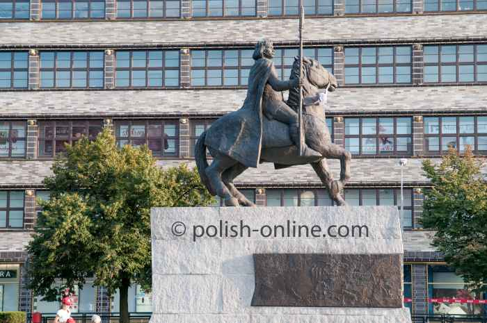 Denkmal Bolesław Chrobry in Breslau (Wrocław)